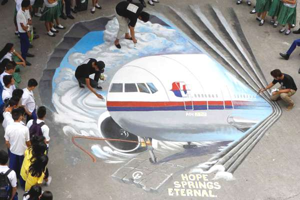 Aucune trace, avion, Fausses pistes, Vol MH370