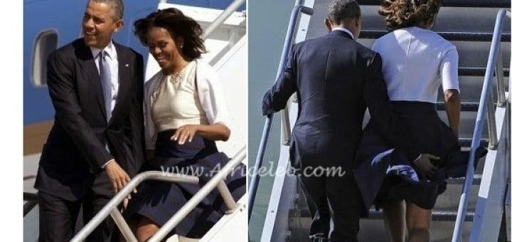 Le président Barack Obama sauve sa femme Michelle de la honte!!!