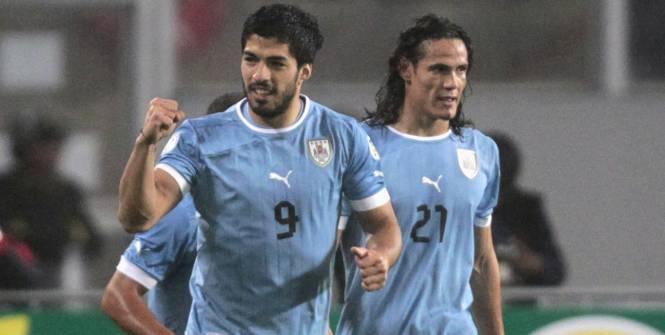 Cavani, liste 23, Suarez, Uruguay