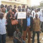 Les travailleurs de Tigo manifestent dans la rue à Dakar ce samedi