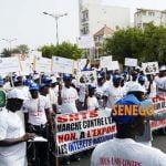 Marche du Syndicat National des Travailleurs de Sentel de ce samedi matin