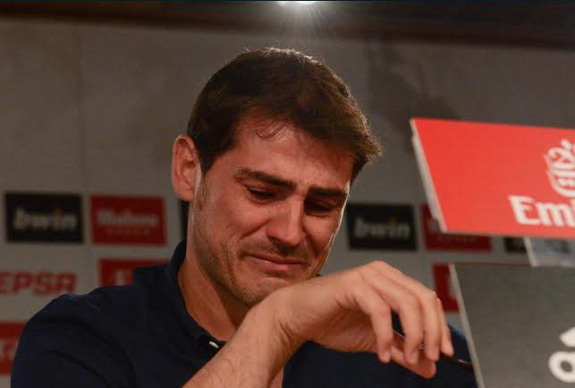 Les larmes de Casillas au moment de quitter le Real Madrid
