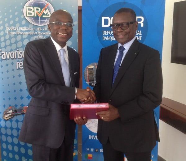 Pierre Goudiaby Atepa, président des CA de la Brvm a pris fonction