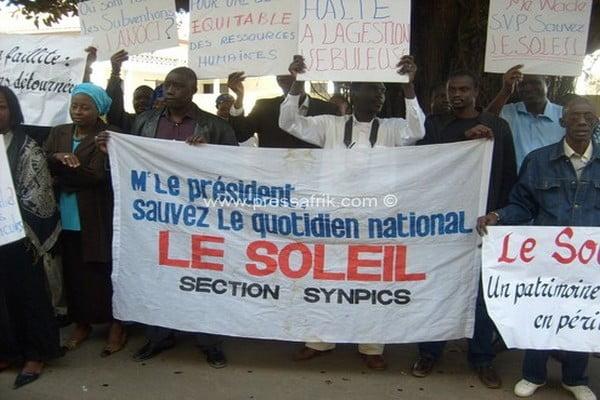Cheikh Thiam, dg Cheikh Thiam, Dg Le Soleil, journal, Le Soleil, Maguette Ndong, mouvement d'humeur au journal le soleil, secrétaire général du Synpics-Soleil