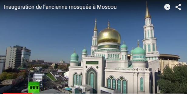 Inauguration, Moscou, Mosquée, Poutine