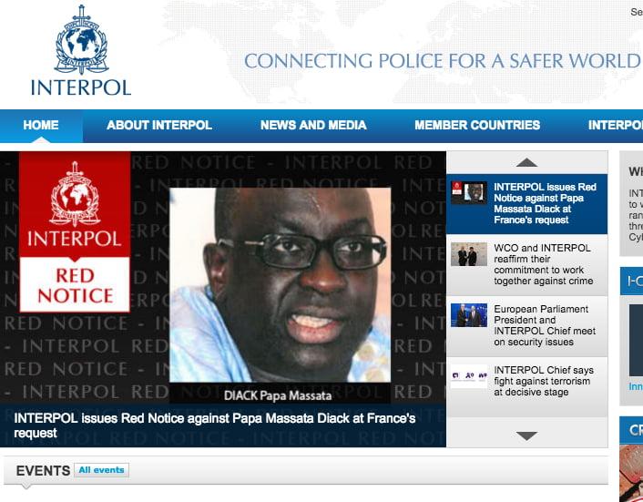 Massata Diack Interpol