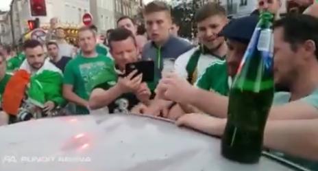 Vidéo: Le supporters irlandais se dédommagent. Regardez
