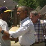 Vidéo: Obama en visite en Louisiane après des inondations historiques – Regardez.