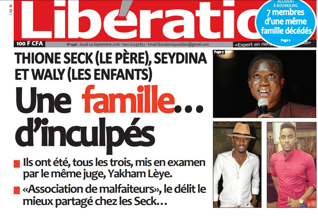 Plainte de Thione: Cheikh Mbacké Guissé