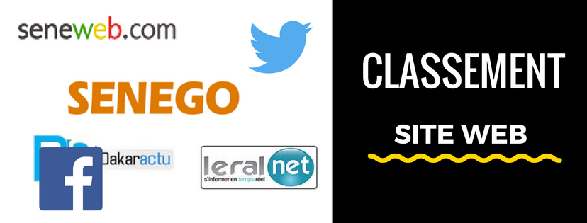 Sénégal – Top 70 des medias en ligne: Senego à la 2ème position!