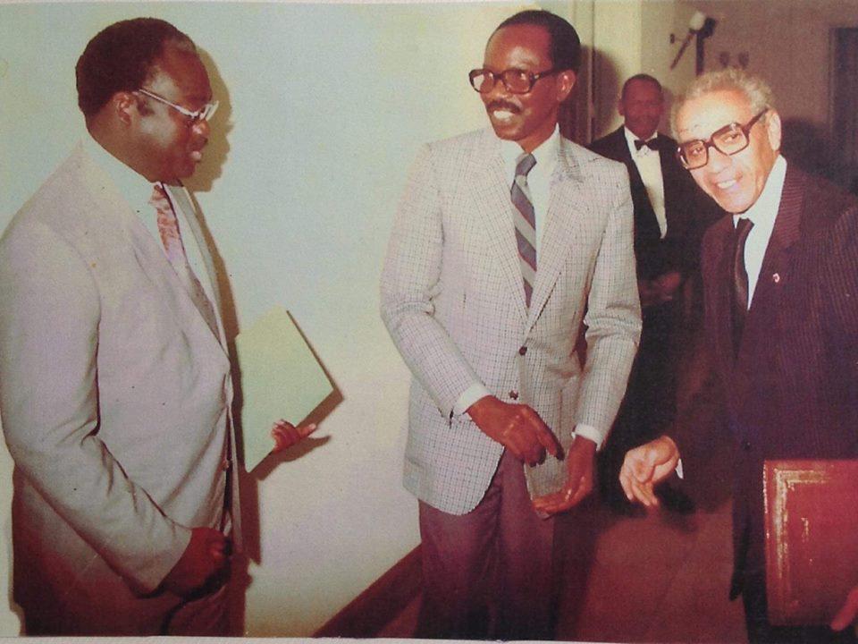 Arrêt sur image: Serigne Cheikh en compagnie de Moustapha Niasse et de Boutros Boutros Ghali