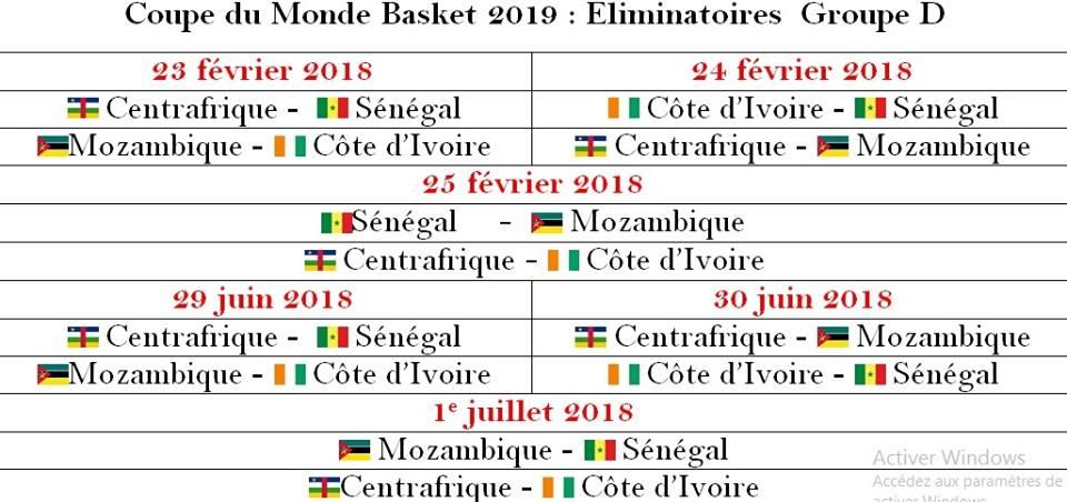 Liminatoires mondial basket 2019 f le calendrier du - Coupe du monde 2018 pays organisateur ...