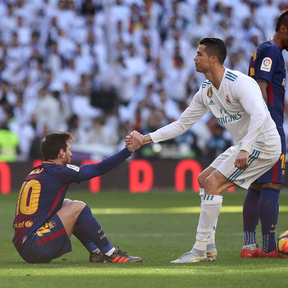 Clasico, Fair play, Geste, Messi, ronaldo