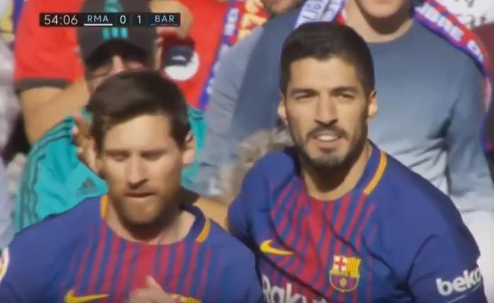 Barcelona, but de Suarez, real Madrid