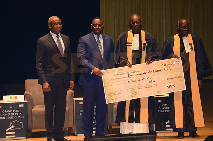 Assane Ndiaye, Grand prix chef de l'Etat, Réaction