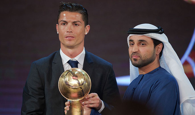 Globe Soccer Awards, ronaldo, Trophée