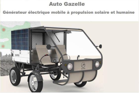 auto gazelle, création, énergie solaire, esp dakar, solaire, véhicule solaire, voiture africaine