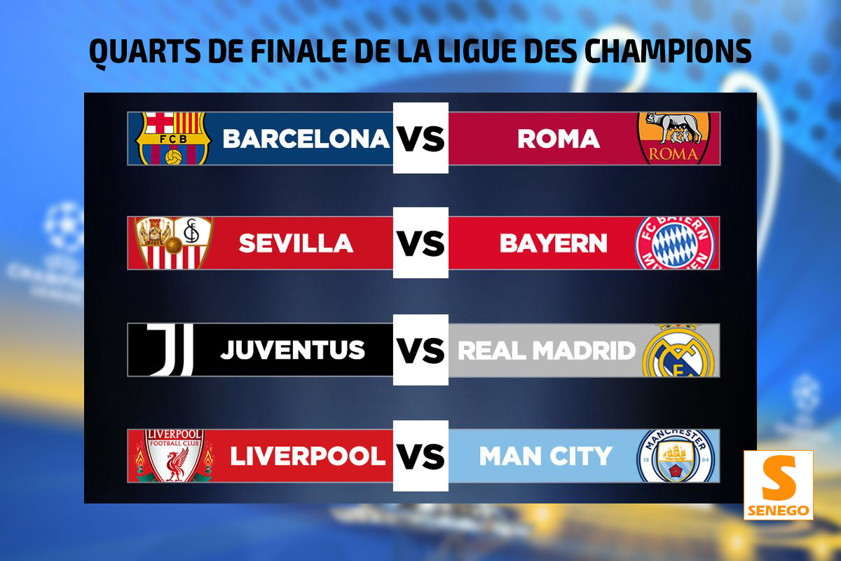 Rencontre quart de final ligue des champions 2018