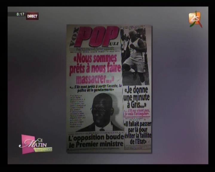 Revue de presse 2stv du jeudi 29 mars 2018 par pape seydi fall et seynabou ndiaye - Jeudi de l ascension 2018 ...