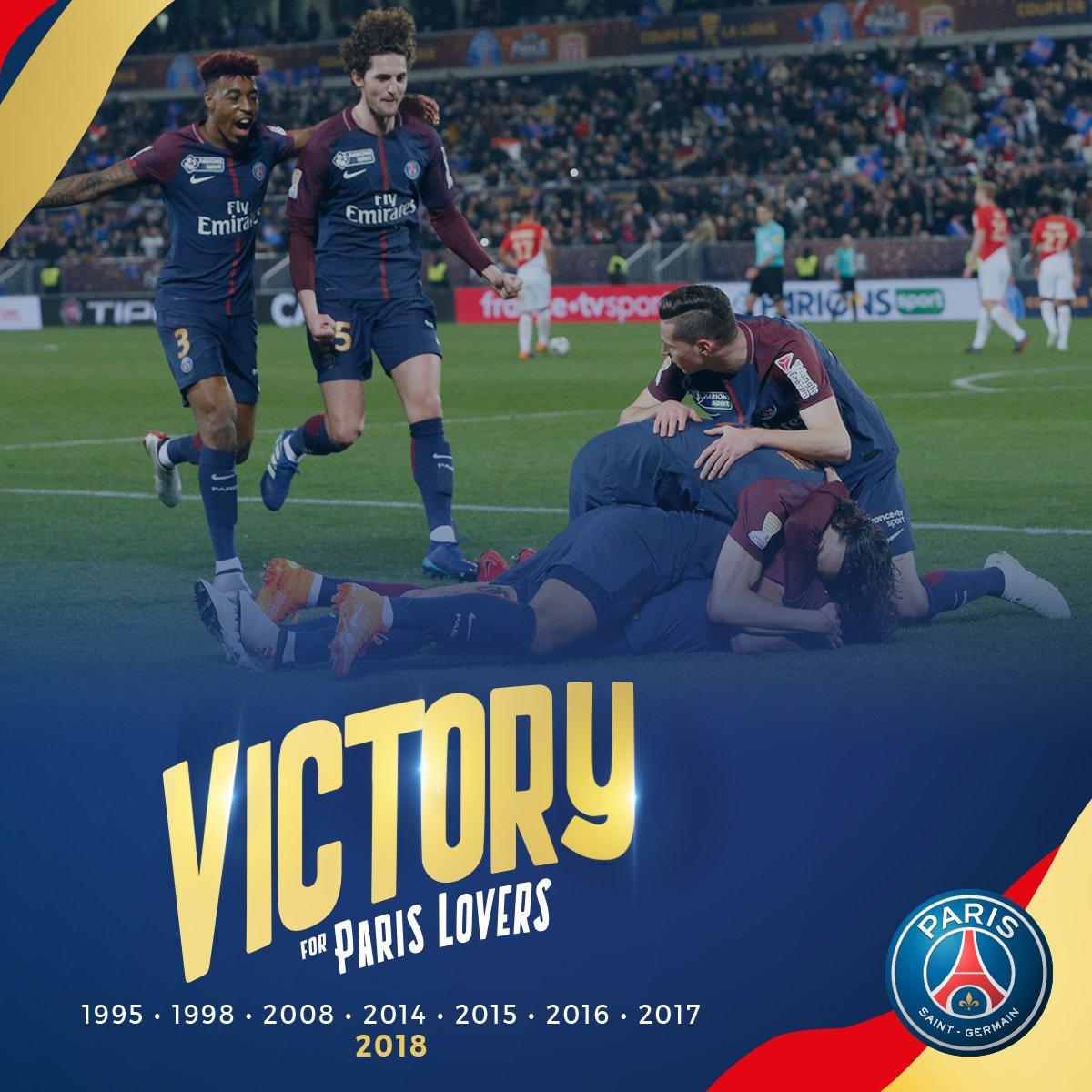 Football le psg remporte la coupe de la ligue face monaco - Coupe de la ligue a la tv ...