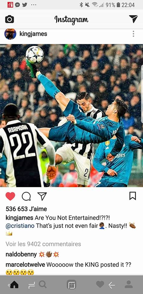 image, Lebron James, ligue des champions, ronaldo