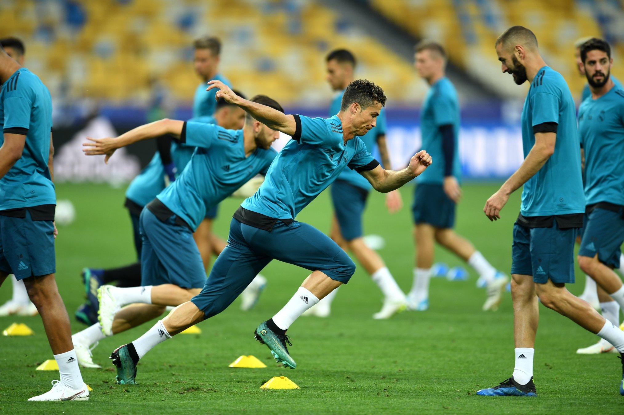 Entraînement, finale, real Madrid