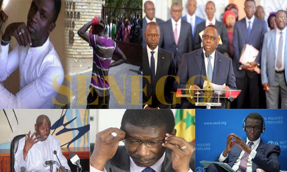 Aly Ngouille Ndiaye, amadou Ba, Baydallaye Kane, limogeage, Mary Teuw Niane, mort fallou sène, Parents d'élèves