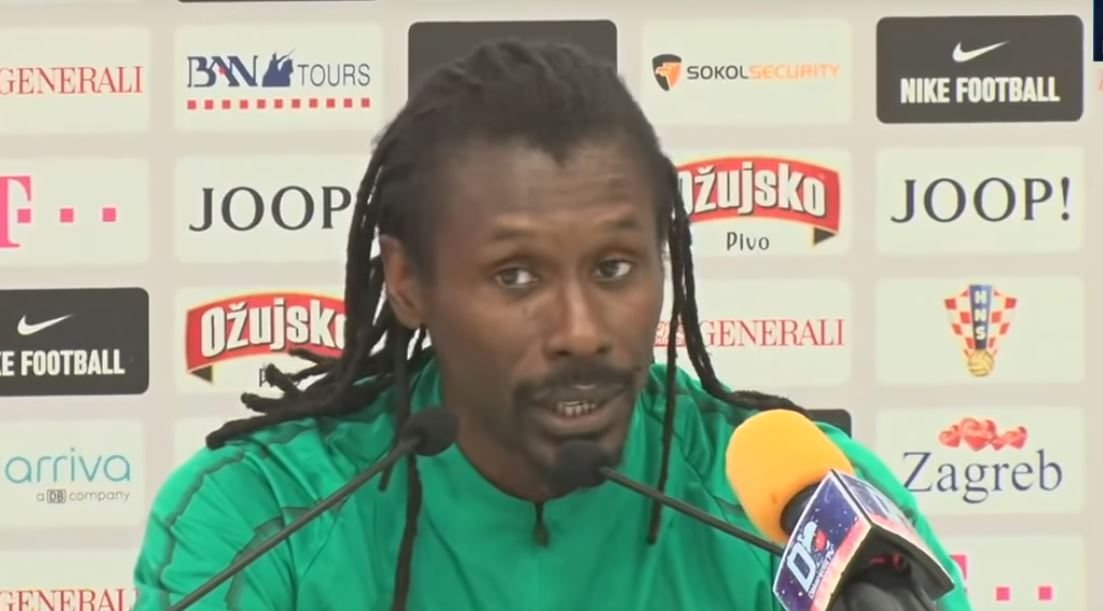 aliou cissé conf press