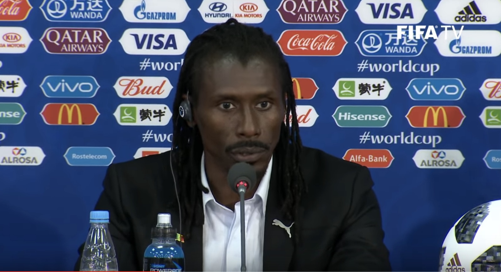Aliou Cissé, sélectionneur du Sénégal, regrette les