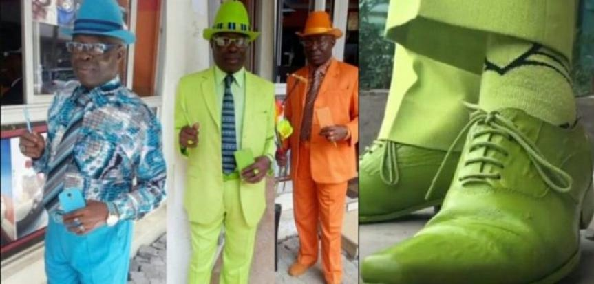afrique, Chaussures, coutume, élégant, homme