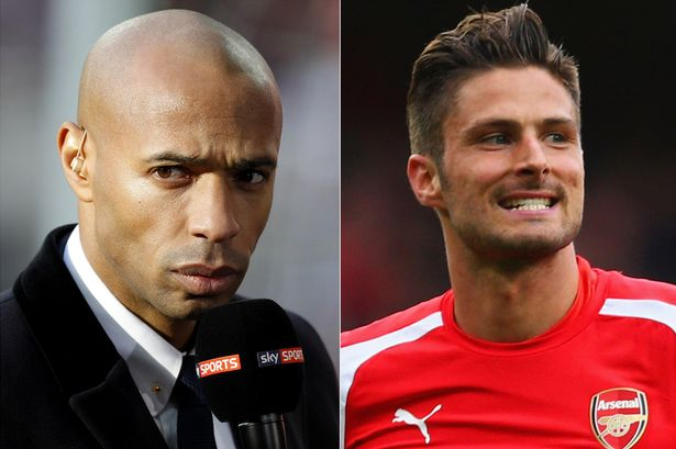 olivier giroud, Thierry Henry