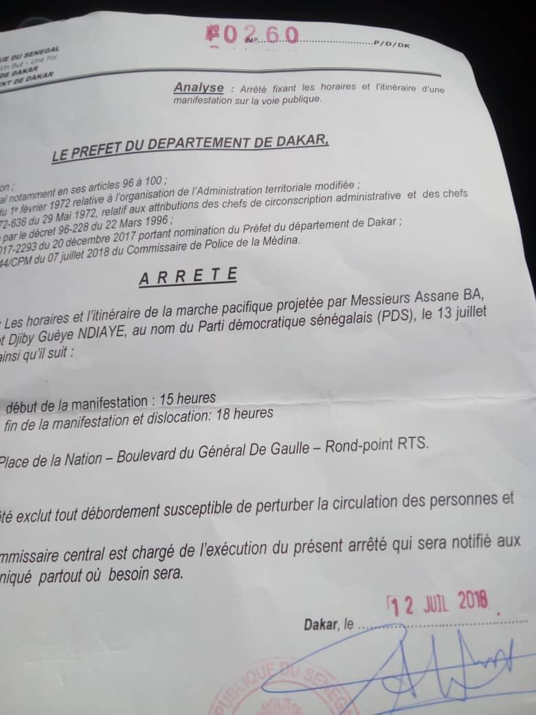 autorisation, Dakar, marché, Préfet de Dakar