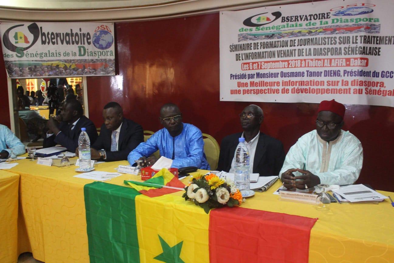 Journalistes, Medias, observatoire sénégalais diaspora, traitement information
