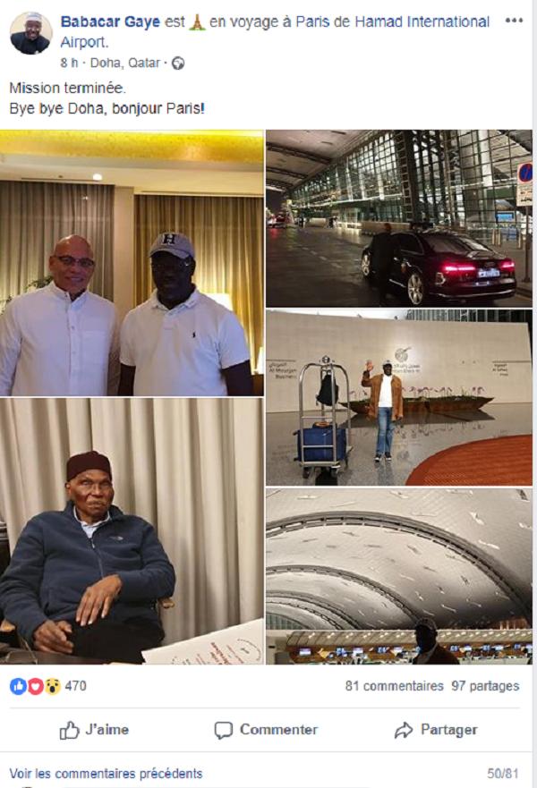 Abdoulaye Wade, babacar gaye, Doha, Karim Wade, Poids