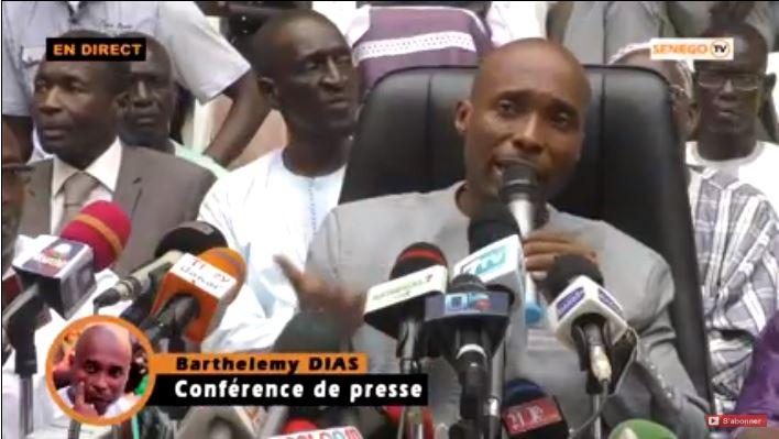 Barthélemy Dias, Moussa Sy, parrainage