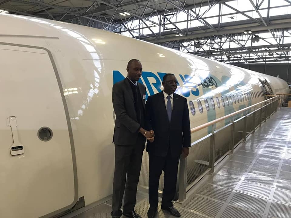 Macky Sall, Toulouse, usine d'Airbus