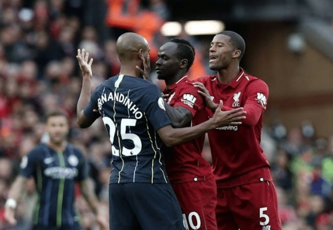 altercation Sadio Mané / Fernandinho, colère de Sadio Mané, lion de Sadio Mané, match de sadio mané, photos altercation Sadio Mané / Fernandinho, Sadio Mané, Sénégal, vidéo altercation Sadio Mané / Fernandinho, vidéo de sadio mané