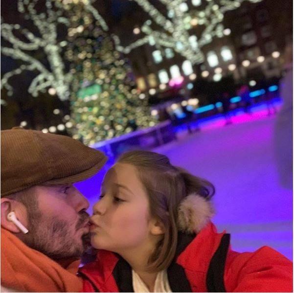 baiser, David Beckham, Fille
