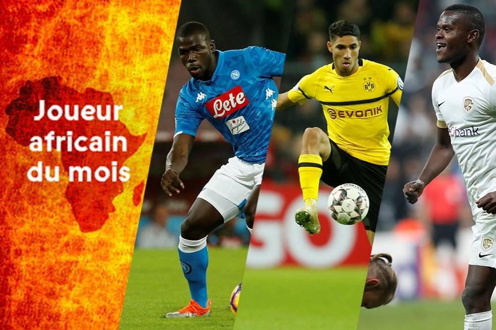 Europe, Football, joueur africain du mois d'octobre, koulibaly, Sénégal, Sports