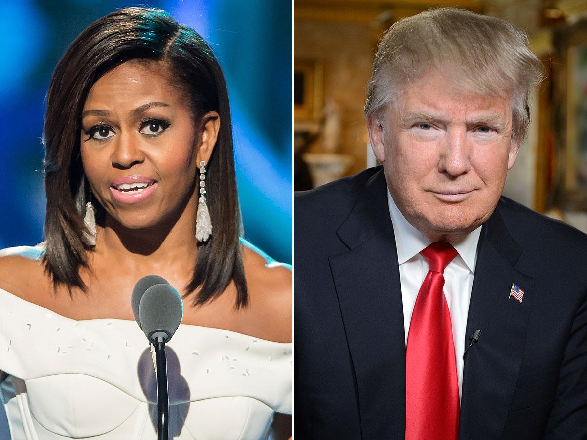 Donald Trump, Mémoires, Michelle Obama