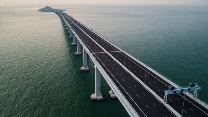 construit le plus long pont marin, il mesure, La chine, monde