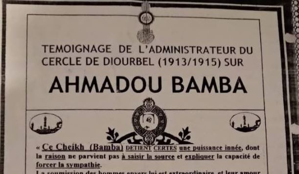administrateur du Cercle de Diourbel, Serigne Touba, témoignage