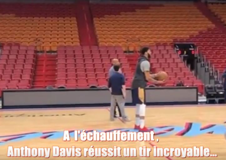 anthony davis, Basket, l'incroyable à l'entraînement, Nba