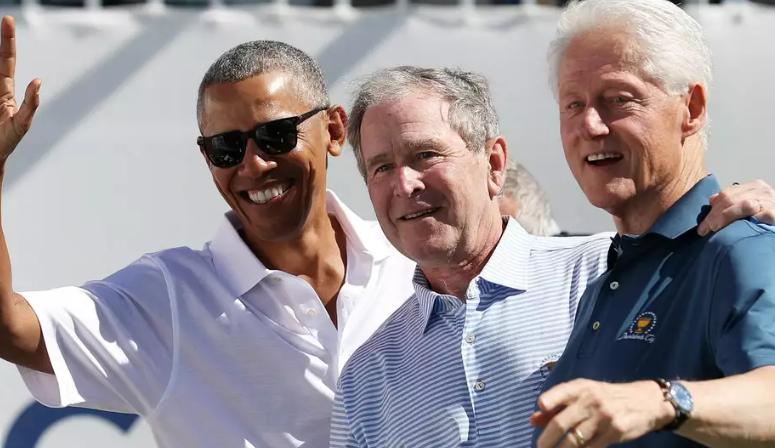 Barack Obama, Bill Clinton, Donald Trump, George Bush, Hommages