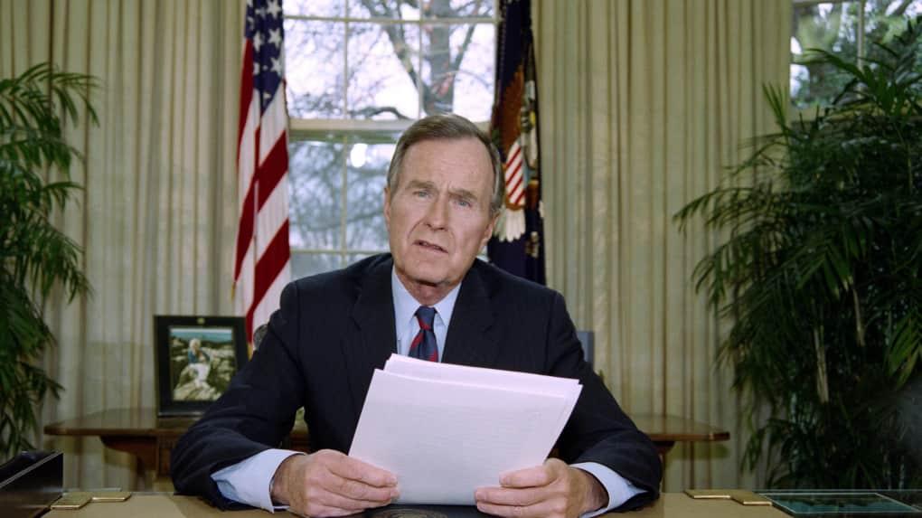 George Bush, L'ex-président américain, mort, Usa