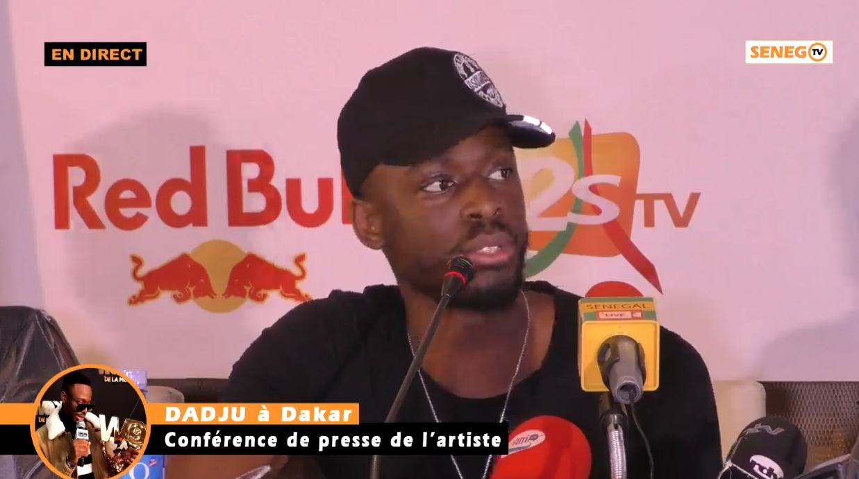 Dadju à Dakar, Grand Théâtre, Le chanteur face à la presse, son concert