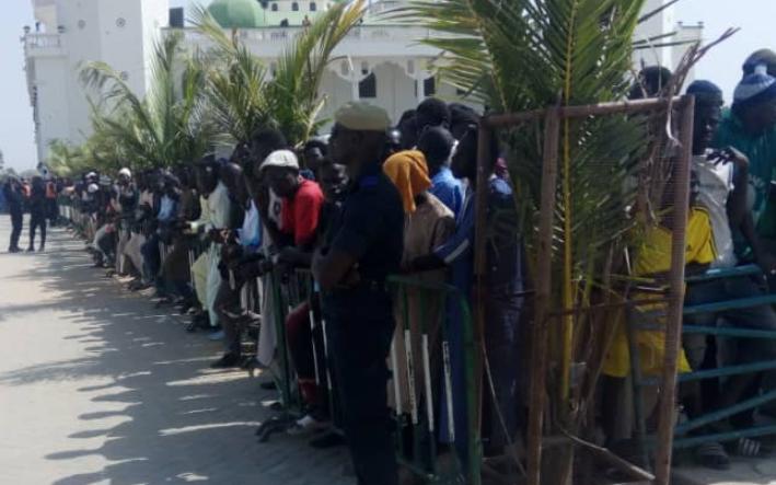 Inhumation, préparations, Sidi Lamine Niasse