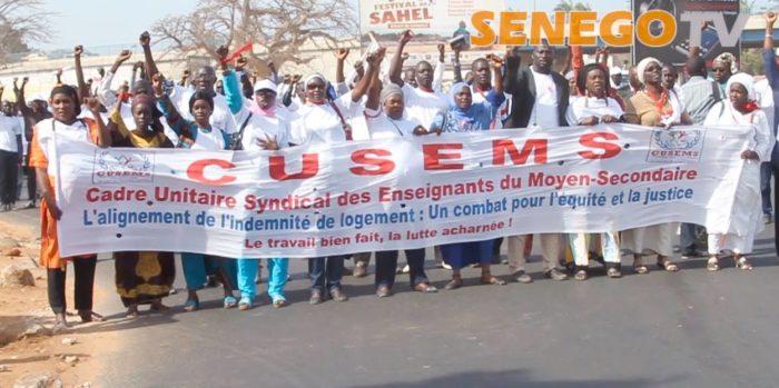 L'école Sénégalaise, le Cusems dépose, sous menace de paralysie, un préavis de gréve
