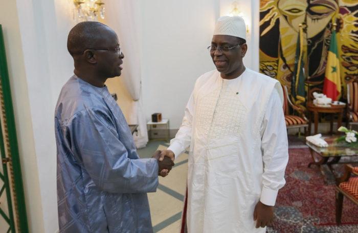 Modou Diagne Fada et Macky Sall