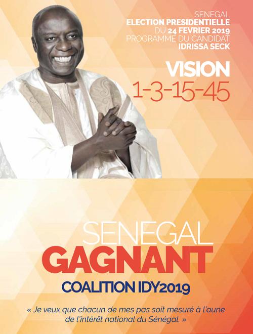"""""""Idy 2019"""", Idrissa Seck, Présidentielle 2019, Programme"""